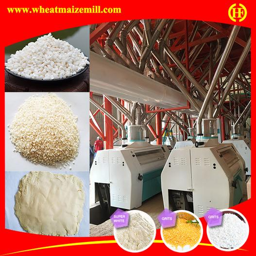 different finished products from commercial maize milling plant