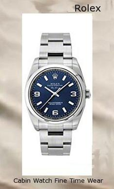 NEW Rolex Air King Blue Arabic Dial Stainless Steel Mens watch 114200 BLAO