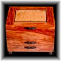 Bubinga and quilted maple jewelry box