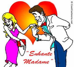 "Valentines day card ""Enchante Madame"""