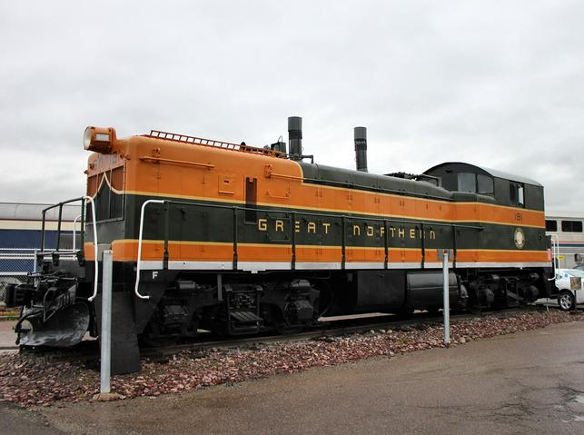Great Northern EMD NW3 No. 181 on display at the Whitefish Amtrak station.