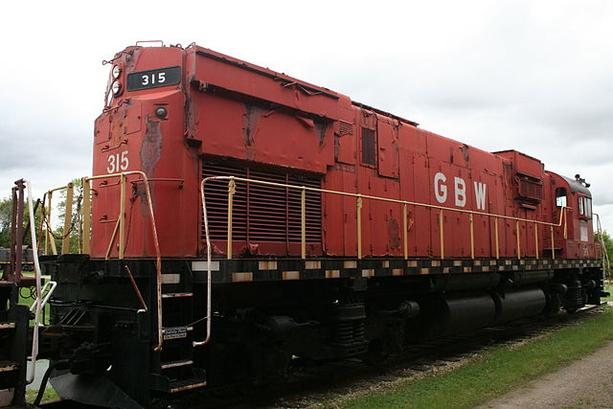 Green Bay and Western Railroad 315, an Alco C430 at the National Railroad Museum, Green Bay, Wisconsin.