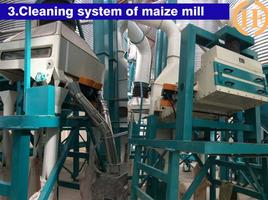 destoner, cleaning before maize milling and sifting