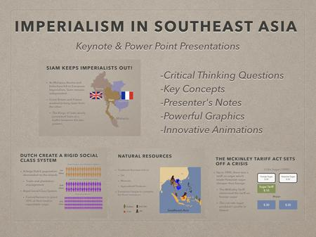 Imperialism In Southeast Asia PowerPoint