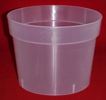 extra large 6.5 inch clear plastic orchid pot sturdy heavy duty translucent chula orchids