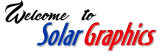 Welcome to Solar Graphics logo heading picture image