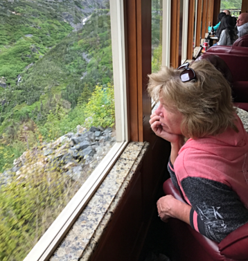 White Pass & Yukon Route train from Skagway Alaska to Fraser BC. Available to add to a private tour with Beyond Skagway Tours.