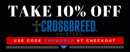 Save 10% off Crossbreed Holsters
