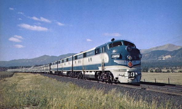 The beautiful streamlined Colorado Eagle, circa 1950's.