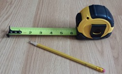 Photo of measuring tape and pencil