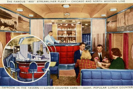 Tavern Lounge car on the C&NW 400.