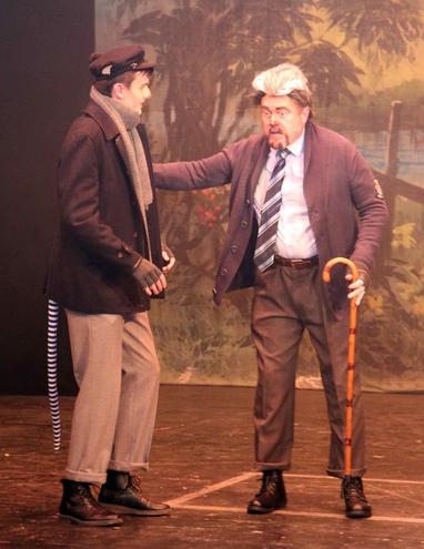 Ratty (Sam Scarisbrick) and Badger (Mark Cooper)
