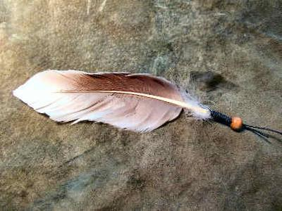 a wrapped feather example 1