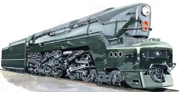 Artist's rendition of PRR 5550 when finished.