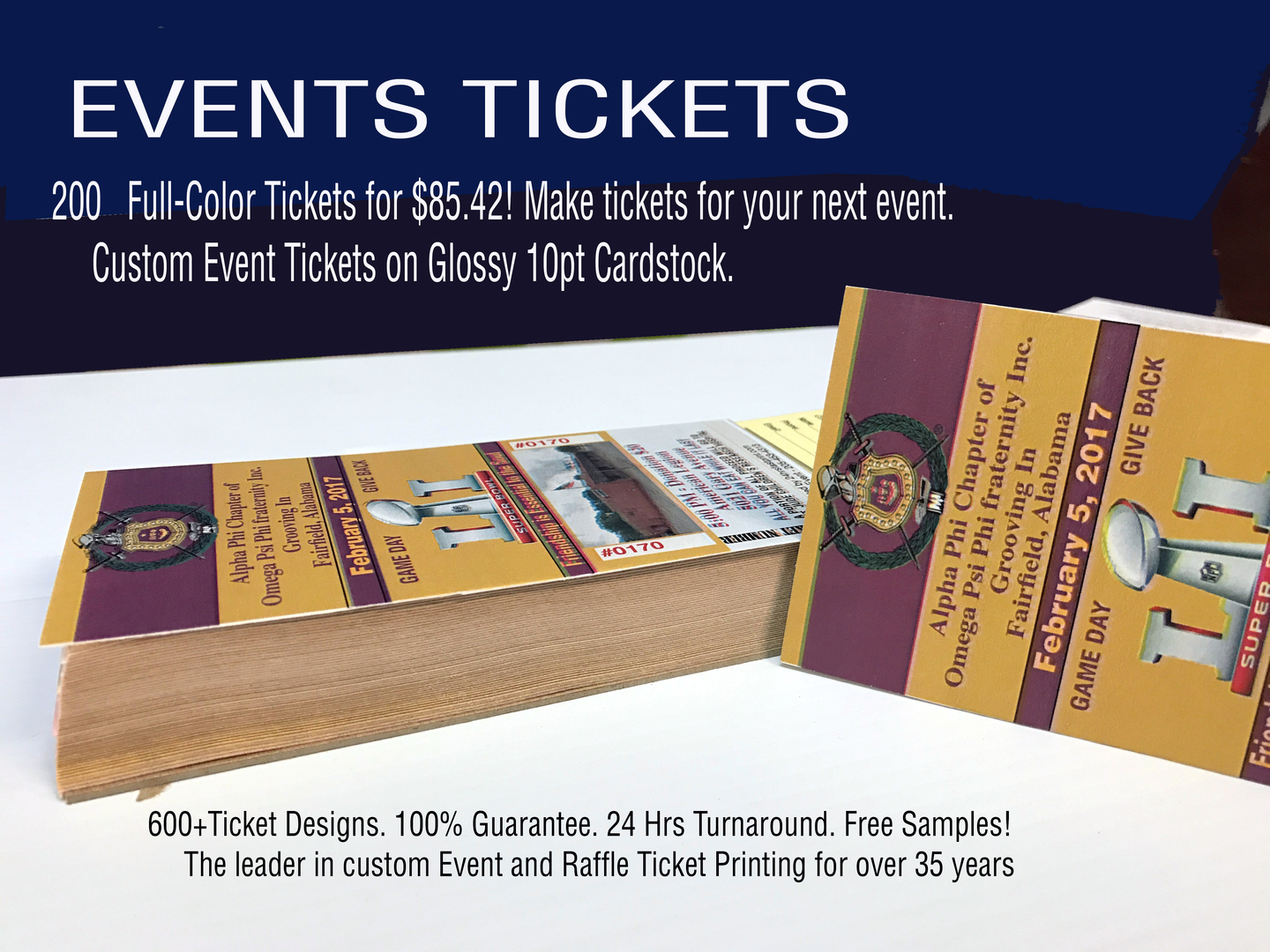 Tickets Raffle 24Hrs Fast Print in Birmingham AL – How to Make Tickets for an Event Free