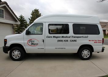 Your Care Wagon will arrive when scheduled, equipped with an ADA approved hydraulic lift to accommodate your wheelchair.