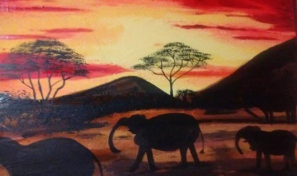 hSunset in africa