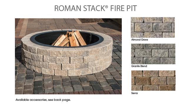 Unilock Romanstack Round Fire Pit