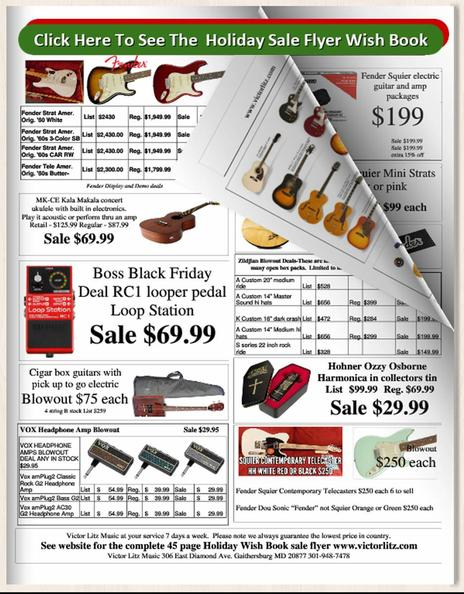 Victor Litz Music Christmas Sale Flyer 2018
