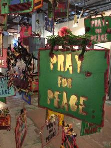 Pray For Peace Art Installation