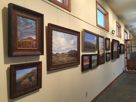 Lindy Cook Severns original art at Old Spanish Trail Gallery and Museum in the mountains outside Fort Davis, Texas