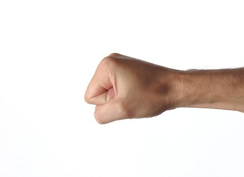 Photograph of a fist and wrist