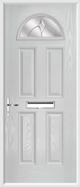 4 Panel 1 Arch Composite Door jewel white