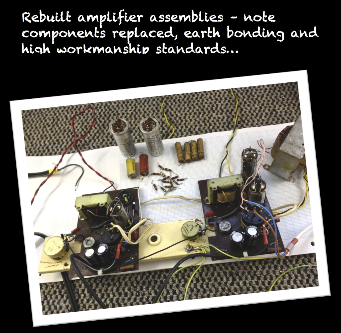 Dansette Restoration Wiring Workmanship Standards Comprenehsive 34 Point Record Player Process By The Professionals