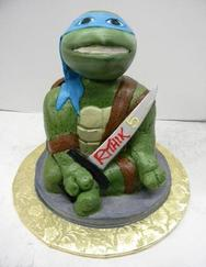 Ninja Turtle Cake Cut-Out Cake Butter Cream Marble Bread
