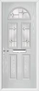 2 Panel 2 Square 1 Arch Composite Door regal opal glass
