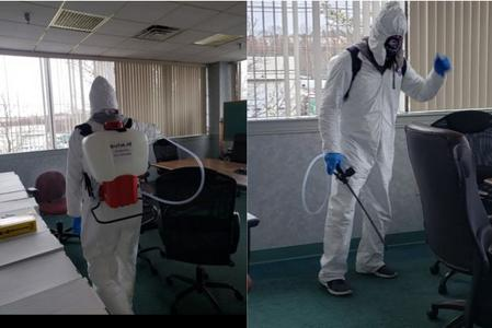 g & s cleaning disinfecting office in Fall River.