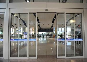 automatic framed sliding glass door