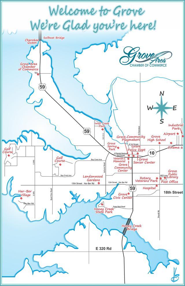 Grove Oklahoma Map.Grove Ok Restaurants Accommodations Attractions Shopping