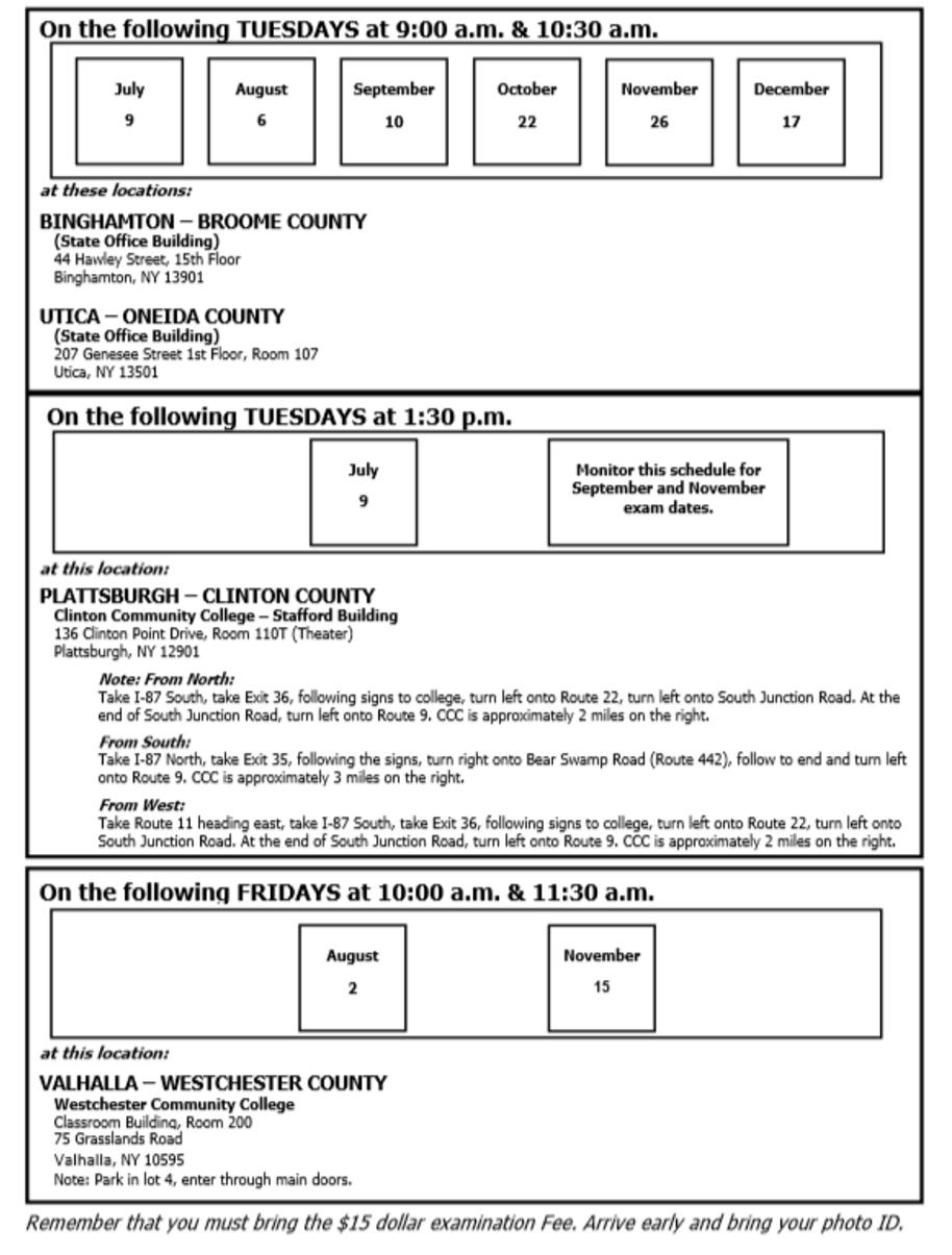 NY Notary Exam Schedule Prep