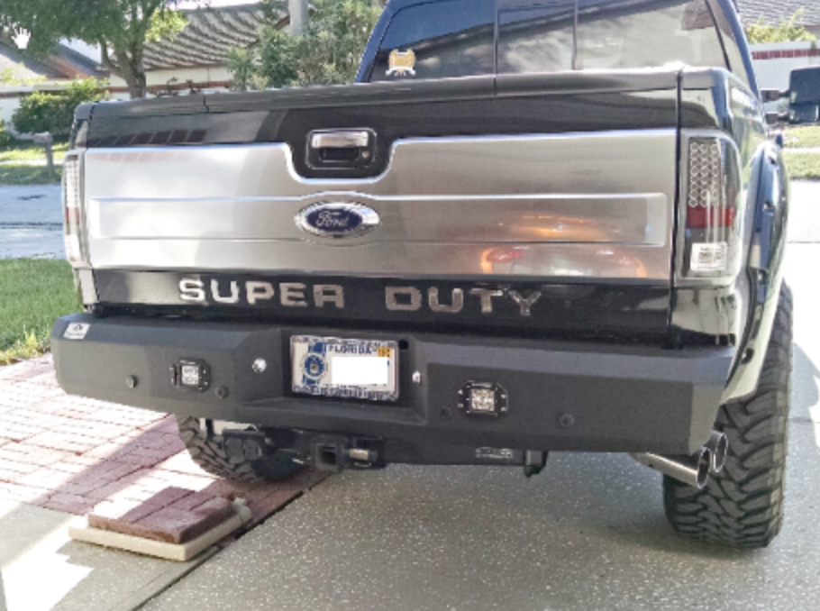1992 2018 Ford Super Duty Rear Replacement Bumpers