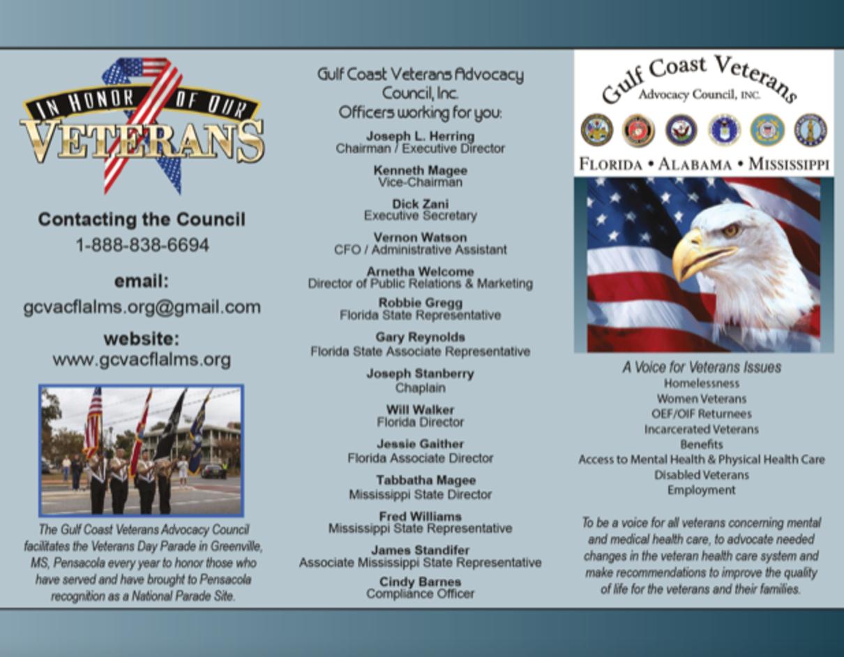 Gulf Coast Veterans Advocacy Council inc  - Helping Veterans