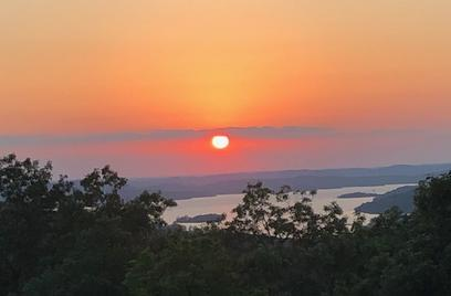 image of sunset and lake