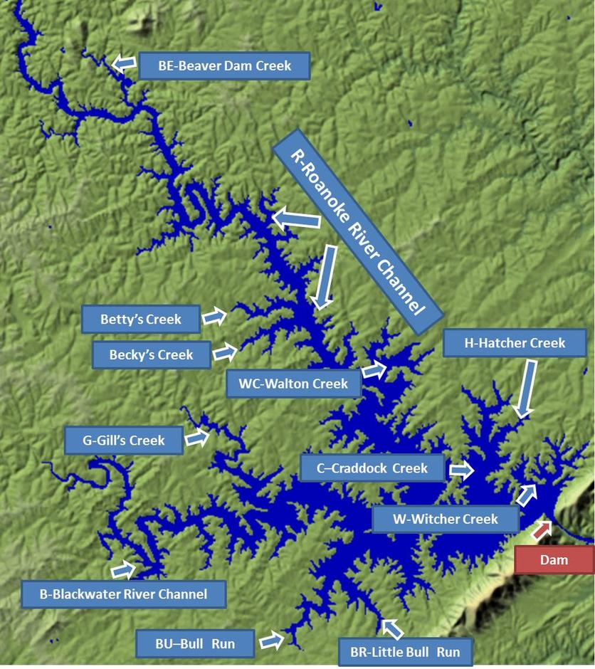 Smith Mountain Lake Map Smith Mountain Lake Maps