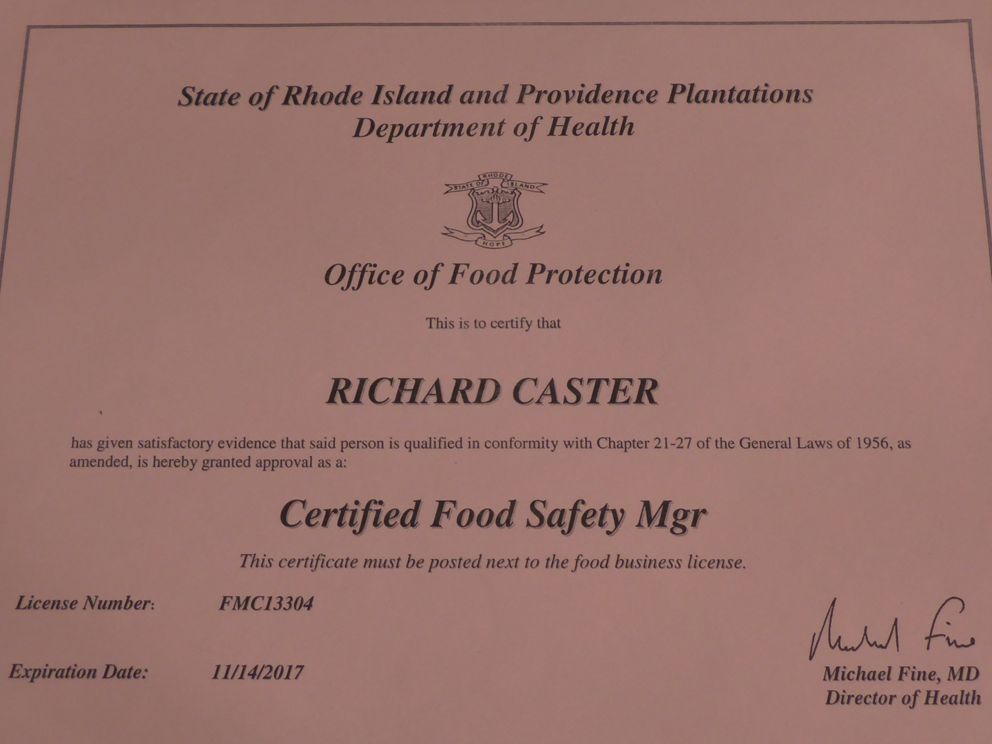 Certified food protection manager food food safety manager cl 1betcityfo Image collections