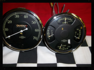 1935 International gauge cluster repair