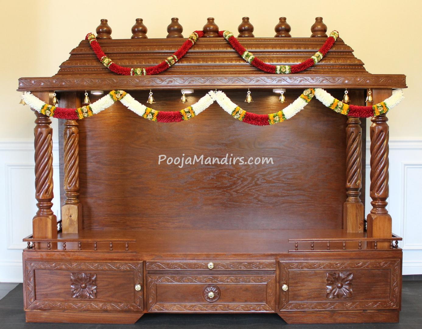 Big Wooden Pooja Mandir Designs For Home Home Plan