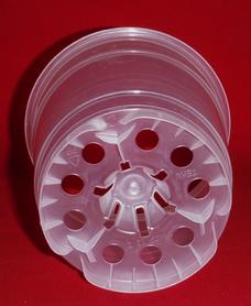 ultra clear plastic orchid pot 4.5 inch holes UV Poppelmann Teku