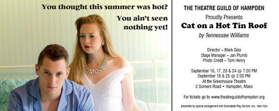 The Theatre Guild of Hampden Presents Cat on a Hot Tin Roof