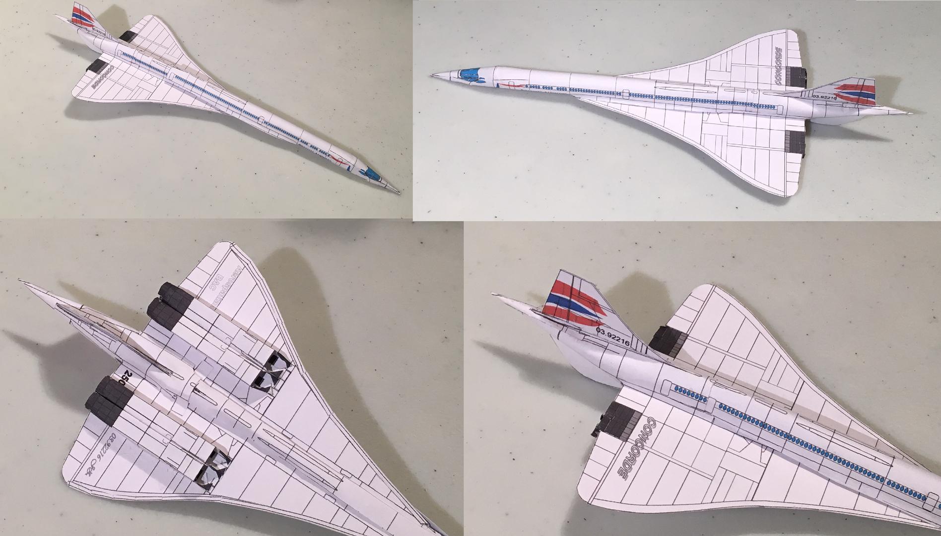 4d paper airplane diy model history