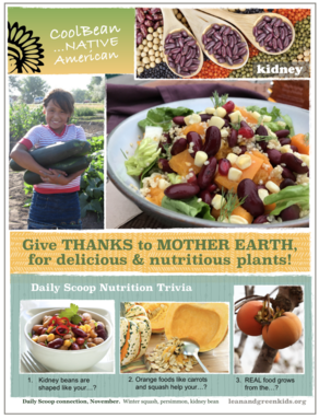 Give Thanks to Mother Earth, Bean poster kidney beans