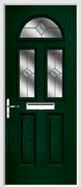 2 Panel 2 Square 1 Arch Composite Door fusion glass