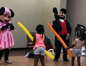 Mickey and Minnie: Hire Sesame Street style Party Characters