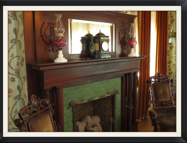 Fireplace of Mr. Cruikshank's Chamber at Rockcliffe Mansion, Hannibal Missouri