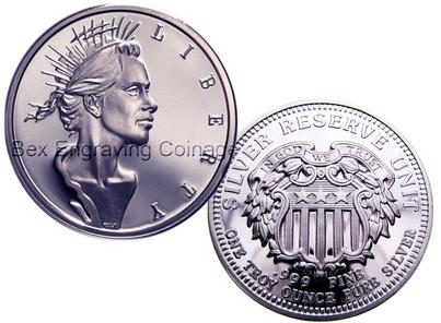 Lady Liberty Silver Reserve Unit 999, by BEX