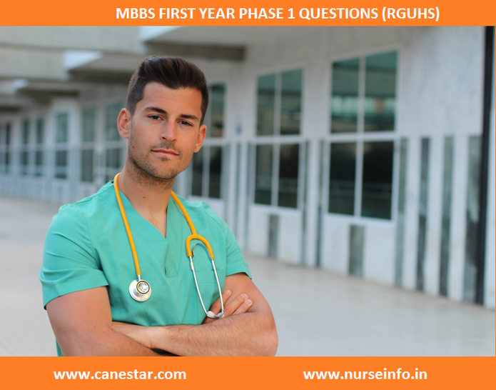 mbbs first year phase 1 question rguhs